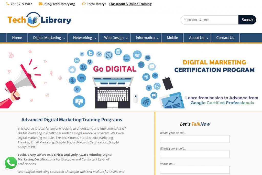 digital marketing course in Ghatkopar