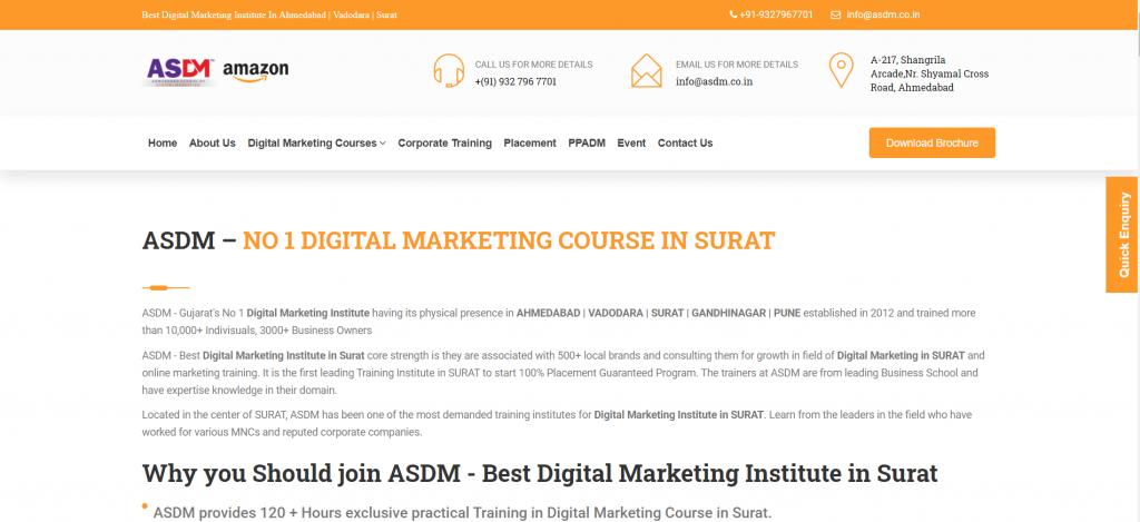 Best Digital Marketing Course in Surat Top Digital Marketing Institute in Surat 2020 ASDM Surat