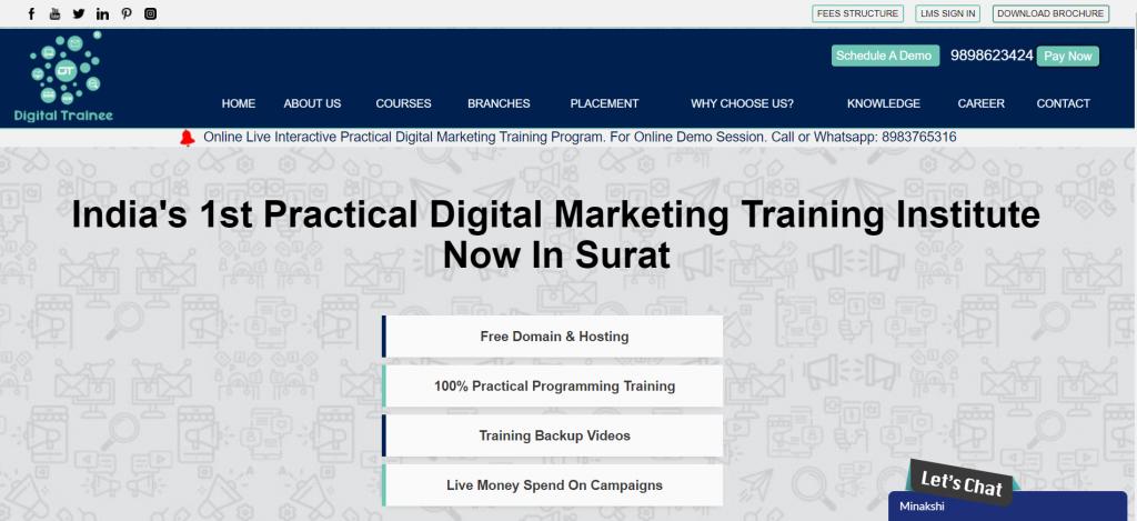 Digital Marketing Course in Surat Best Classroom Training Institute