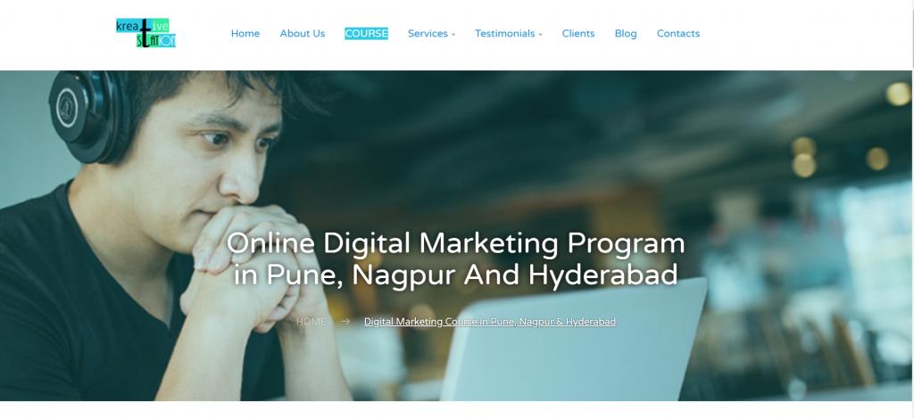 Premium Digital Marketing Training Institute in Hyderabad Nagpur Pune