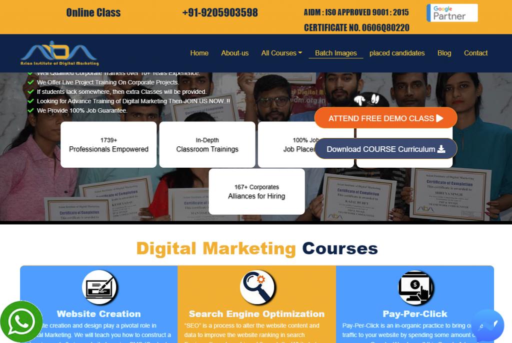 digital marketing course in Faridabad