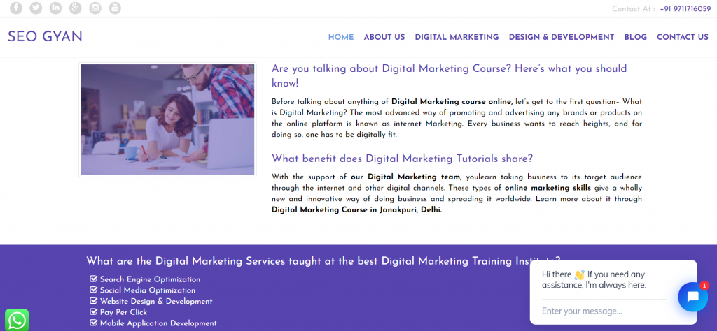 Digital Marketing Course in Uttam Nagar