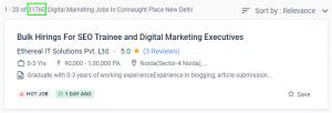 Digital Marketing Jobs in Connaught Place New Delhi