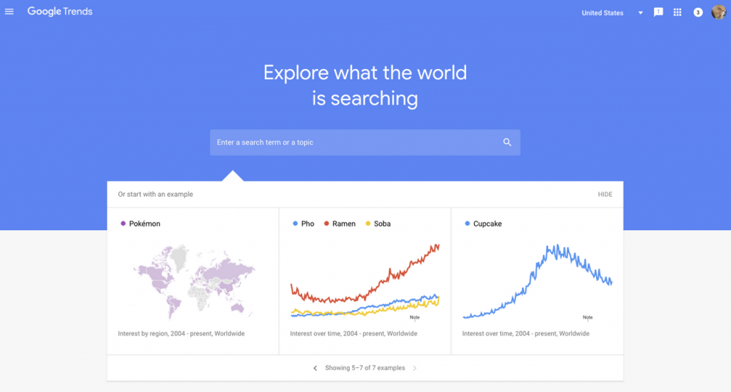 google trends - digital marketing tools