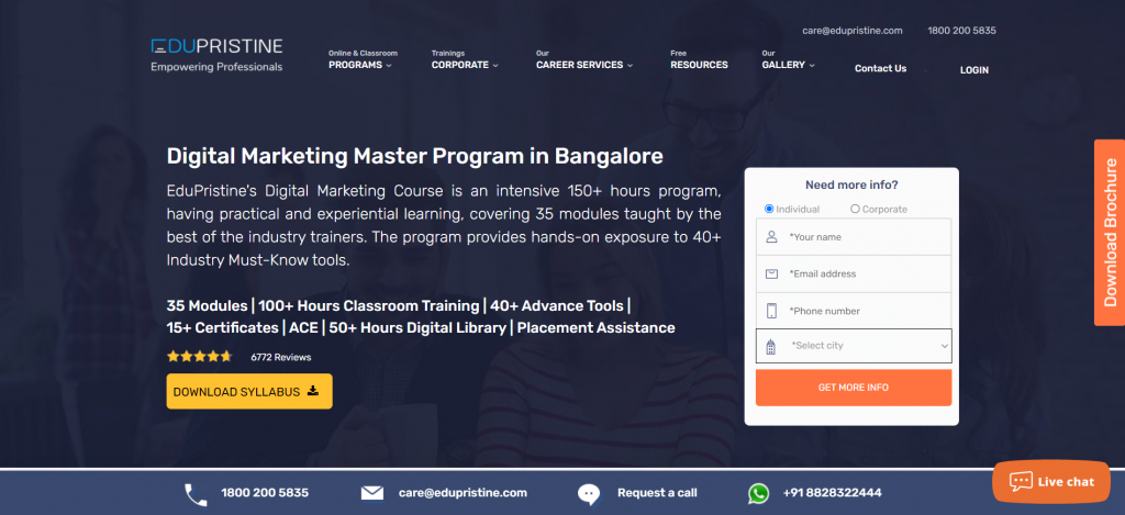 digital marketing course in Bangalore